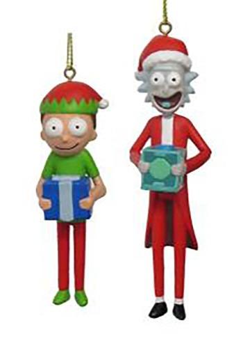 Rick & Morty Figure 2-Piece Ornament Set