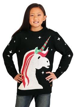 Youth Tipsy Elves Christmas Unicorn Ugly Christmas Sweater