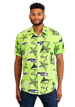 Seattle Seahawks Mens Floral Shirt