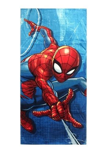 Marvel Spiderman Blue City Beach Towel