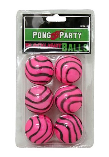 Blacklight Pink Zebra Beer Pong Balls
