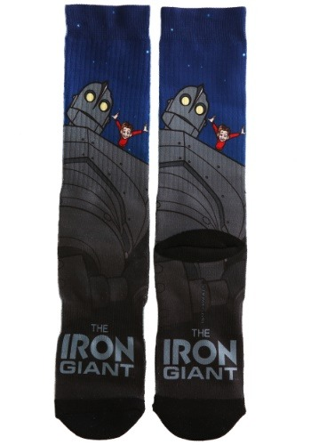 Adult The Iron Giant Sublimated Socks
