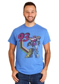 Men's Power Rangers Megazord '93 Royal Blue Heather T-Shirt