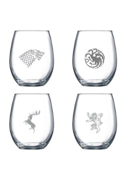 Stemless Game of Thrones Wine Glass Set