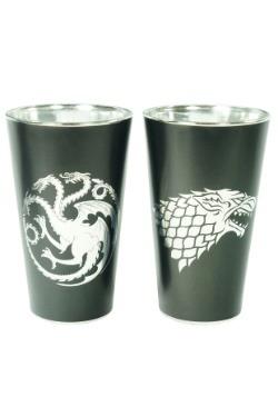 Game of Thrones Jon & Daenerys 2pc Pint Glass Set