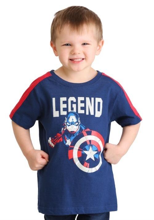 Marvel Captain America Legend T-Shirt For Boys