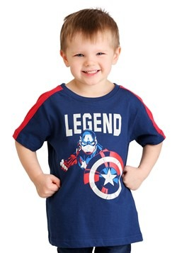 Toddler Boys Marvel Captain America Legend T-Shirt