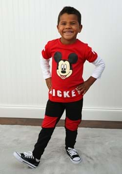 Toddler Boys 2PC Mickey Mouse Long Sleeve Shirt and Pant Set