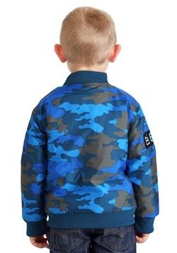 Toddler Boys Disney Stitch Blue Camo Print Nylon Jacket Alt1