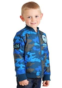Toddler Boys Disney Stitch Blue Camo Print Nylon Jacket Alt2