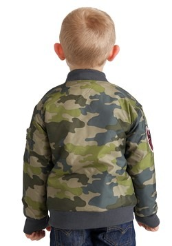 Marvel Spider-Man Green Camo Print Nylon Jacket For Toddlers