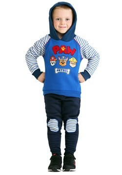Toddler Boys Paw Patrol Spun Poly Hoodie Pant 2 PC Set Hood