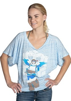 Womens Overwatch A-MEI-ZING! Blue Marble Dolman Cut Shirt