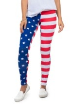 Tipsy Elves Women's American Flag Leggings