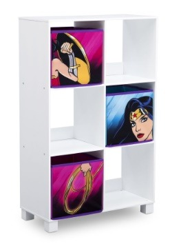 Wonder Woman 6 Cubby Storage Unit