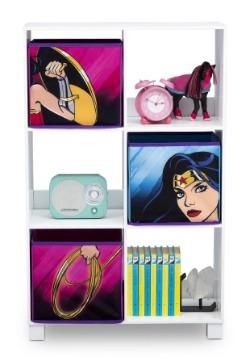 Wonder Woman 6 Cubby Storage Unit Alt1