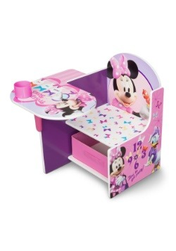 Minnie Mouse Chair Desk with Storage Bin