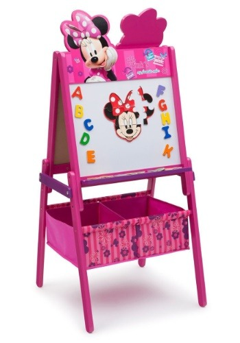 Minnie Mouse Wooden Double Sided Easel with Storage