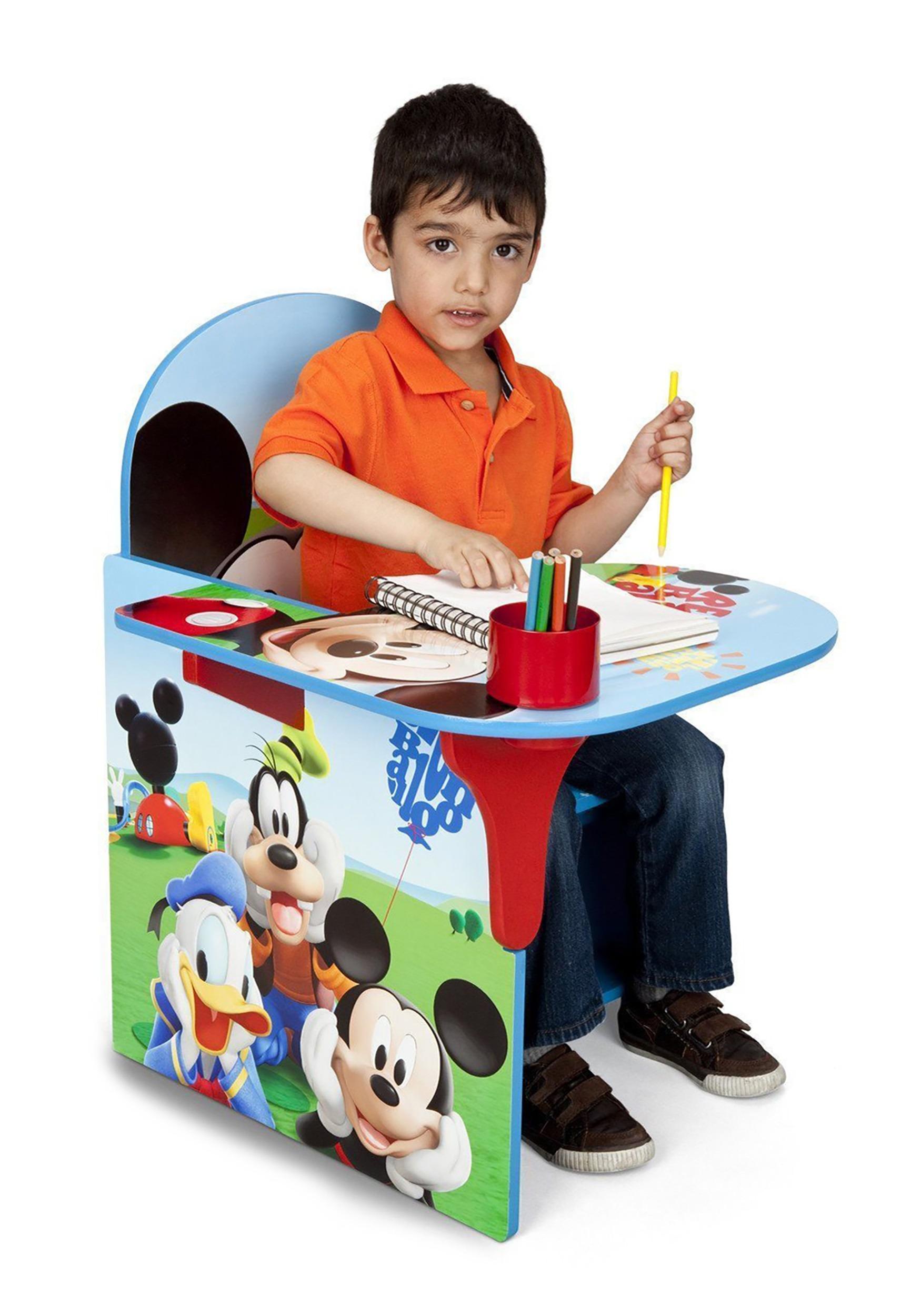 Mickey Mouse Chair Desk W Storage Bin