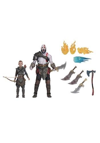 """God of War 7"""" Scale Kratos & Atreus 2-Pack"""