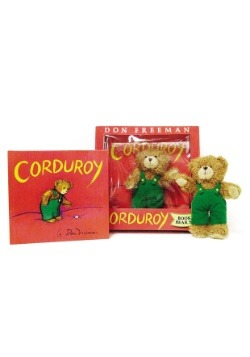 Corduroy Book and Bear Plush Set