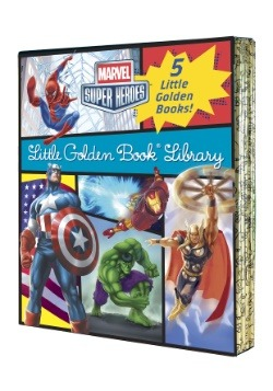 Marvel Little Golden Book Library Board Book Set