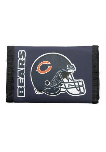 Chicago NFL Bears Nylon Tri-Fold Wallet