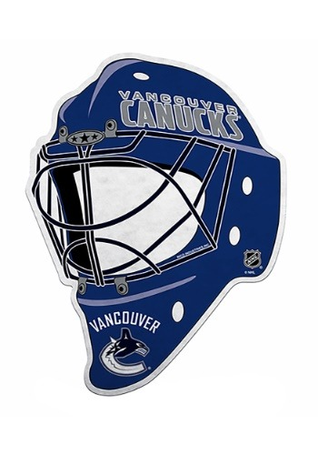 NHL Vancouver Canucks Die Cut Goalie Mask Pennant