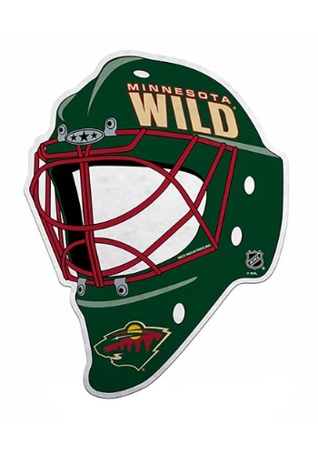 NHL Minnesota Wild Die Cut Goalie Mask Pennant