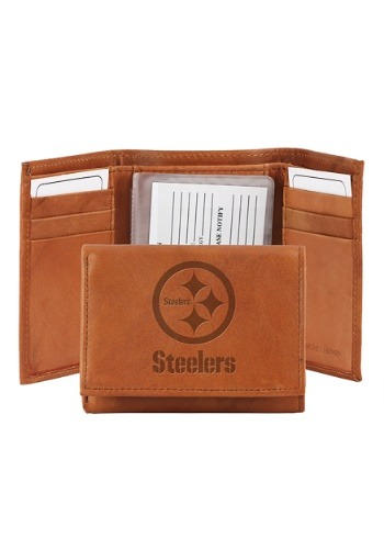 NFL Pittsburgh Steelers Genuine Leather Tri-Fold Wallet