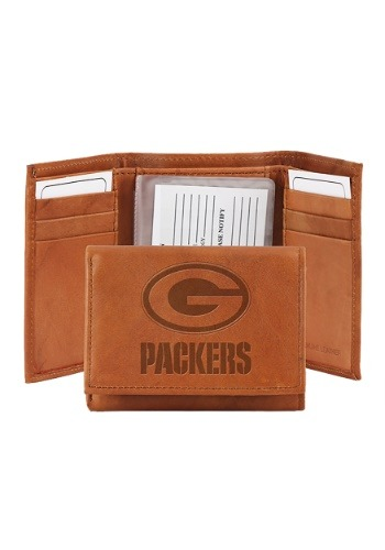 NFL Green Bay Packers Genuine Leather Tri-Fold Wallet