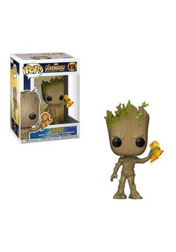 Pop! Marvel: Avengers Infinity War- Groot w/ Stormbreaker