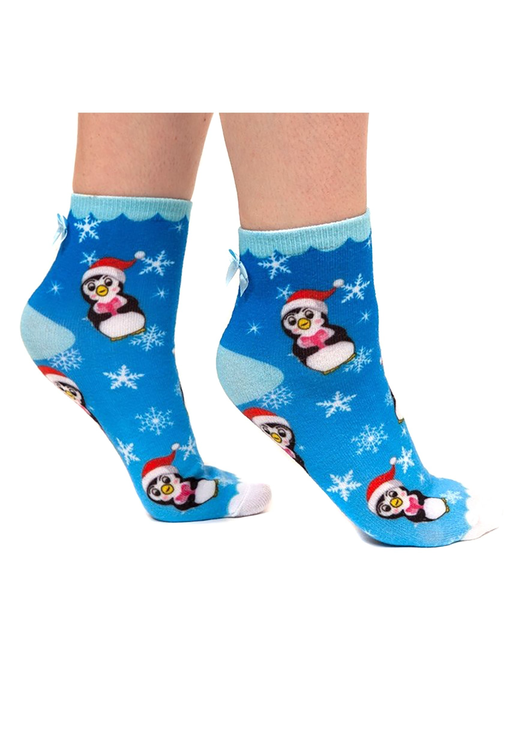 Irregular Choice Santa Penguin Snowflake Socks