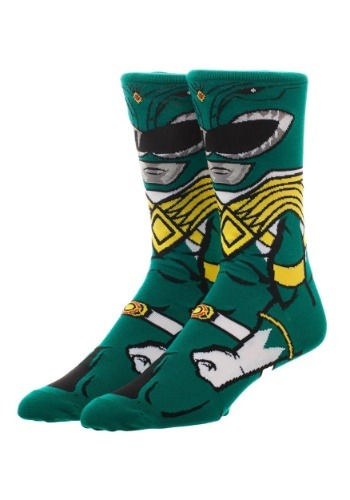 Adult Power Rangers Green Ranger 360 Character Crew Sock