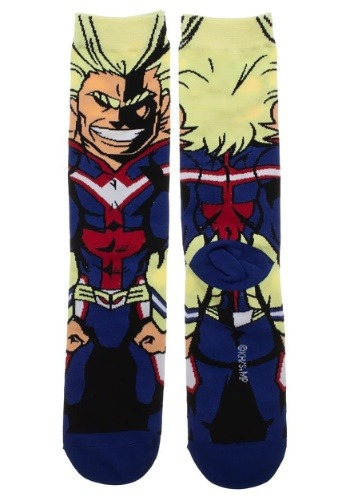 My Hero Allmight 360 Adult Socks