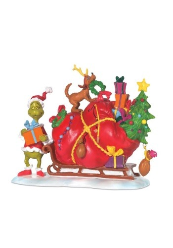 The Grinch Sleigh Figurine