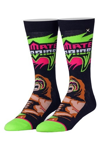 Adult Odd Sox WWE 'From Parts Unknown' Ultimate Warrior Knit