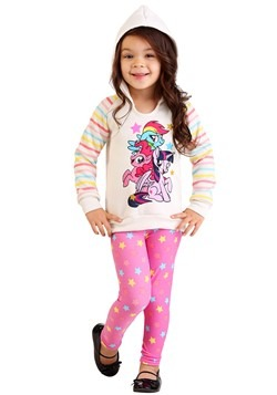 My Little Pony Girl's 2 Piece Star Print Top & Legging Set A