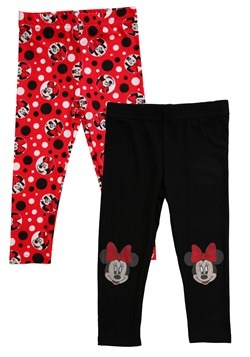 2 Pack Minnie Mouse Girl's Leggings