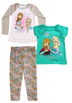 Frozen 3 Piece Friends are Magic Tops & Legging Set