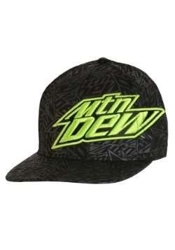 Mountain Dew Black on Black Screen Print Cap