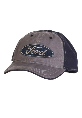 Ford Distressed Emblem Adjustable Cap