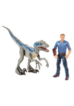 Jurassic World Velociraptor Blue & Owen Action Figure 2-Pack