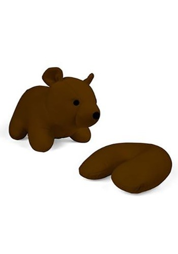 Brown Bear Zip and Flip Travel Pillow