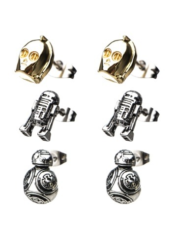 Star Wars Episode 8 Unisex Jewelry BB-8, C-3PO and R2-D2 Stu