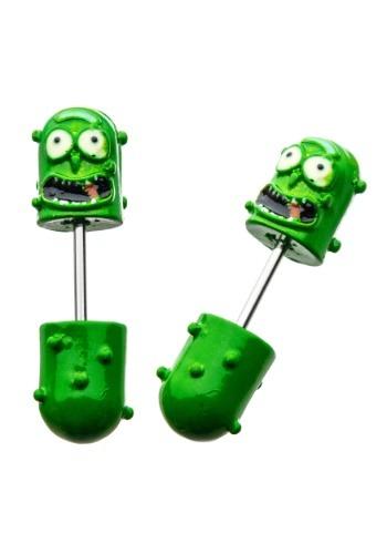 3D Pickle Rick Faux Taper Earrings