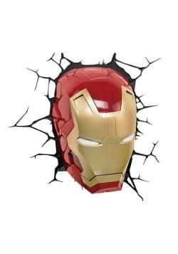 Classic Iron Man Mask 3D Light