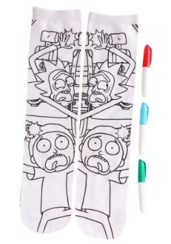 Adult Rick and Morty Color Me Crew Socks