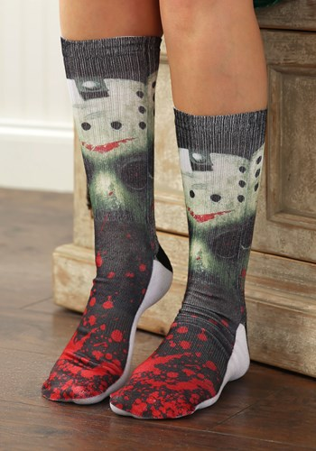 Friday the 13th Jason Mask Men's Crew Socks