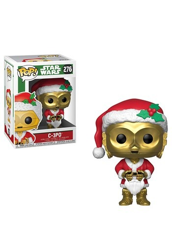Pop! Star Wars: Holiday- C-3PO as Santa Bobblehead Figure